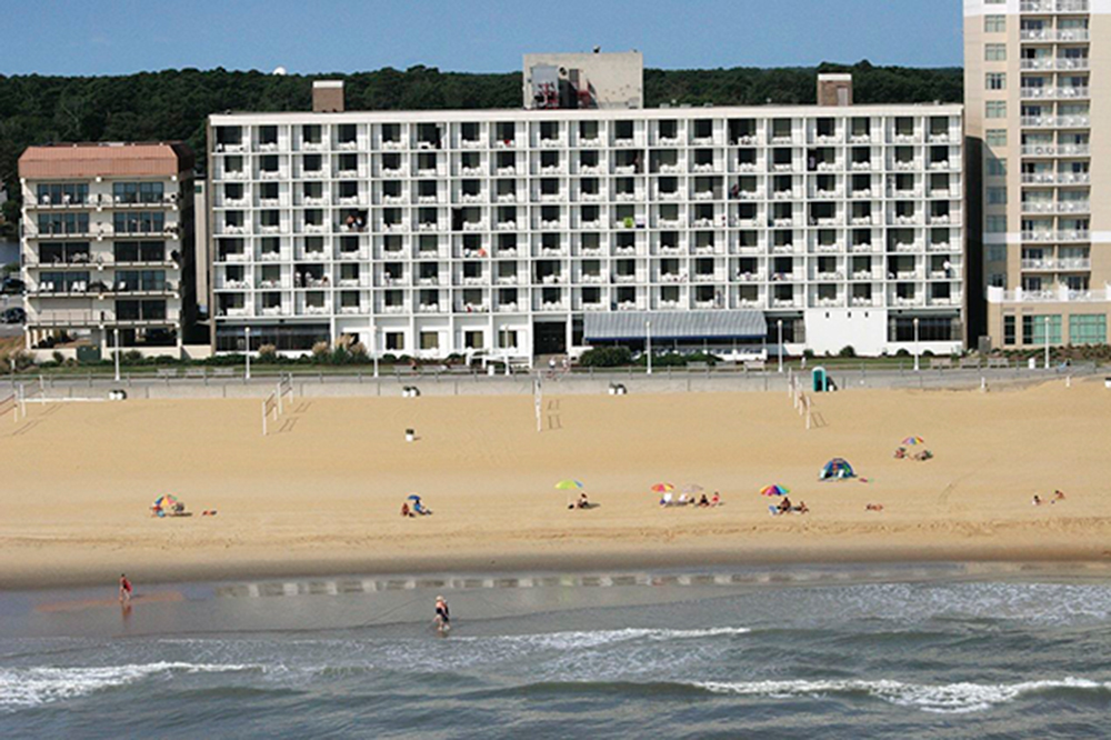 barclay towers beach side view
